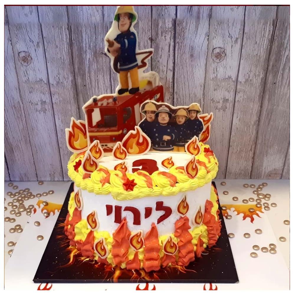 עוגת מעוצבת גבוהה סמי הכבאי